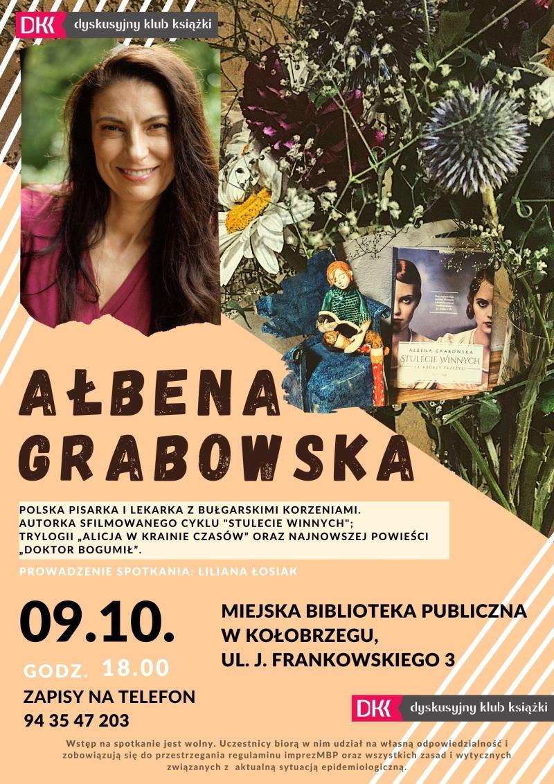 Spotkanie autorskie z Ałbeną Grabowską w Miejskiej Bibliotece Publicznej w Kołobrzegu